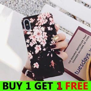NEW iPhone Max/XR/XS/X/7/8/Plus Flower Case